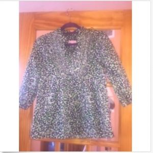 NWOT LILLY PULITZER Animal Print Blouse SZ S